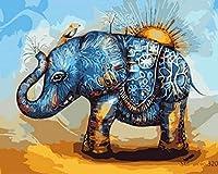 油絵 数字キットによる デジタル インテリア キャンバスの油絵子供 ホーム オフィス装飾 40x50センチ-日光_額装