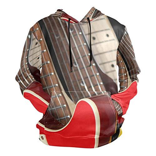 Ahomy Retro Electric Guitars - Sudadera unisex con capucha para hombre, diseño...