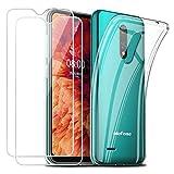 Reshias Cover per Ulefone Note 8P, Morbido Trasparente TPU Silicone Protettiva Custodia con Due...