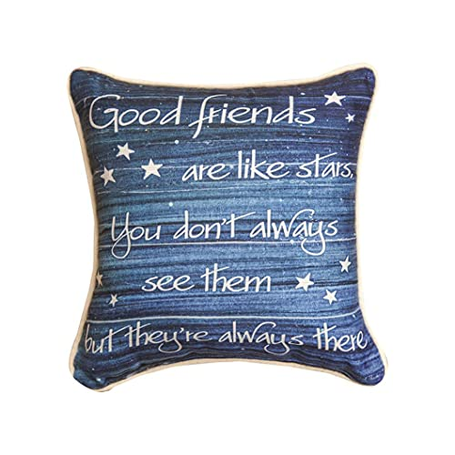 Friends Are Like Stars Quote Decorative Cushion