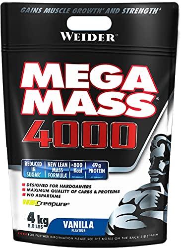 Weider Mega Mass 4000 4 Kg - Para el Crecimiento Muscular