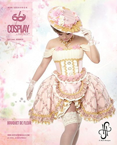 Cosplay von McCall 's Bouquet de Fleur Korsett Top/Schürze Rock und Panniers, Tissue, Mehrfarbig, 20x 0,5x 25cm