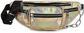 YWSCXMY-AU Fashion Women Waist Bag Casual Pu Leather Zipper Waist Bags Travel Chest Bag Fanny Waist Pack (Color : Gold)