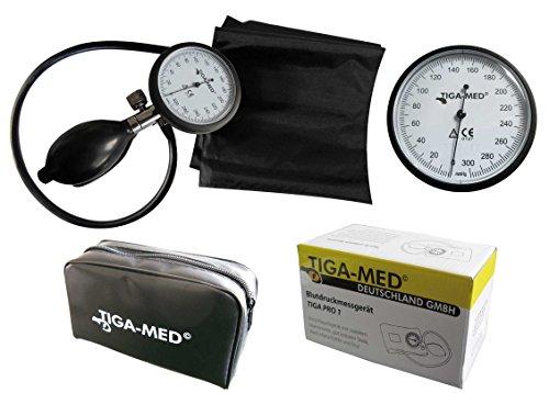 Blutdruckmessgerät Oberarm Aneriod TIGA PRO 1 Blutdruckmesser KI Klettmanschette/Etui Marke