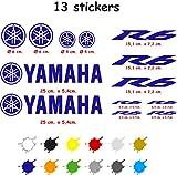 Kit de Pegatinas Troqueladas Compatible Yamaha r6 Vinilo 5 a 7 años (Azul Oscuro)