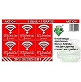 6 adesivi GPS per interni o esterni, per bicicletta, moto, macchine da costruzione, auto, camion, allarme antifurto, R048 (vita esterna)