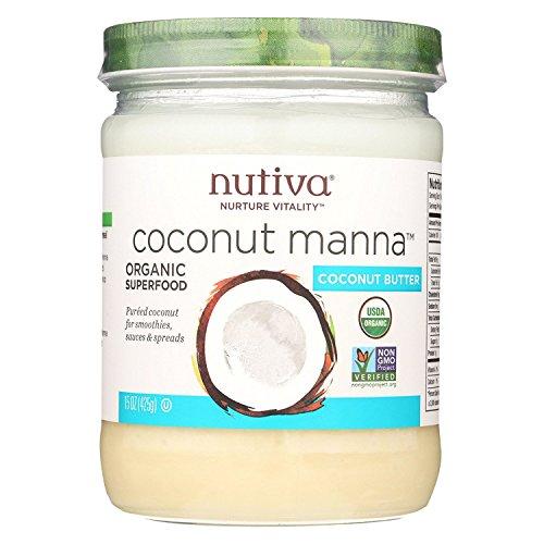 Nutiva Coconut Manna - 15 oz - 95%+ Organic - Gluten Free - Dairy Free - Wheat Free -