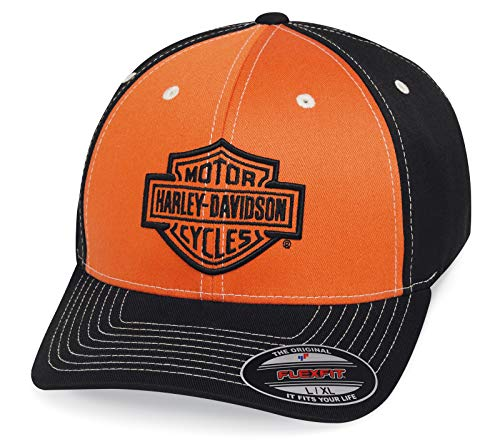 HARLEY-DAVIDSON Cap Herren Kappe Baseballmütze Kopfbedeckung Colorblock Kontrastreich Flexibel, L/XL