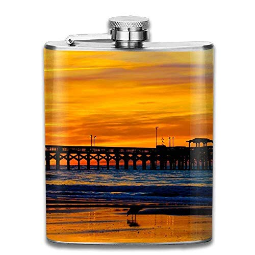 FGRYGF Stainless Steel Liquor 7 OZ Delicious Hot Dogs Vaso per fiaschetta Flagon Flask