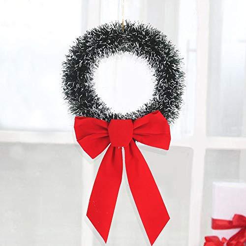 Corona de la puerta de Navidad, arrecife, artificial, guirnalda de la puerta de Navidad con el arco grande verde de la vid de Navidad anillo de la corona de Navidad Decoración de la ventana de Navidad