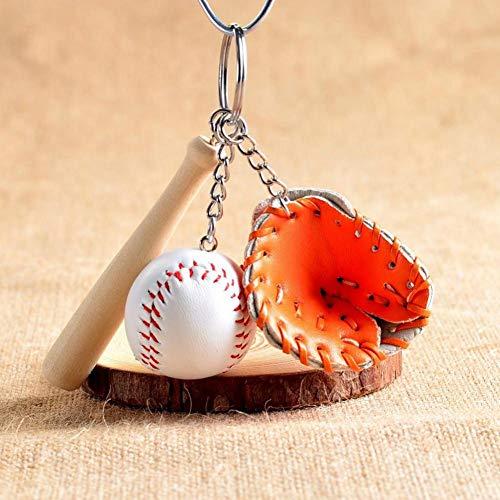 Mini Baseballschläger Und Handschuh Ball Sport Fan Schlüsselbund Männer Frauen Taschen Autoschlüssel Ring Paare Liebhaber Geschenk Für Frauen Schlüsselbund Schmuck