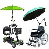 TANCHEN - Paragüero de lluvia, soporte para paraguas de bebé, soporte para conector de coche, soporte para tubería, abrazadera de fijación para silla de ruedas, scooter