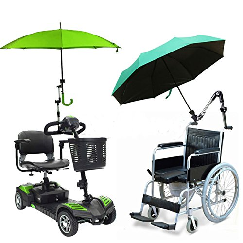 Tanchen Regenschirm, Disumos Regenschirmständer Unterstützer Anschluss Halter Rohrstange Befestigung Klemme Rollstuhl Roller