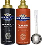 Ghirardelli - 17 Ounce Caramel, 16 Ounce Chocolate Sauce Squeeze Bottles (Set of 2) - with Limited...