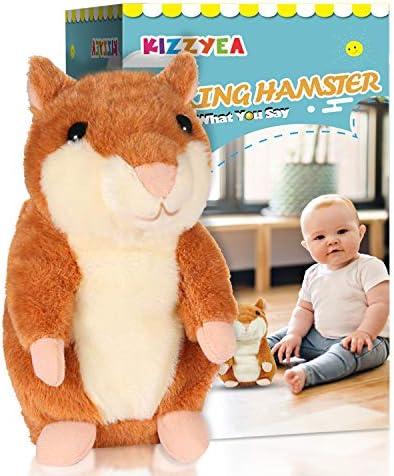 KIZZYEA Bigger Talking Hamster Repeats What You Say Interactive Stuffed Plush Animal Talking product image