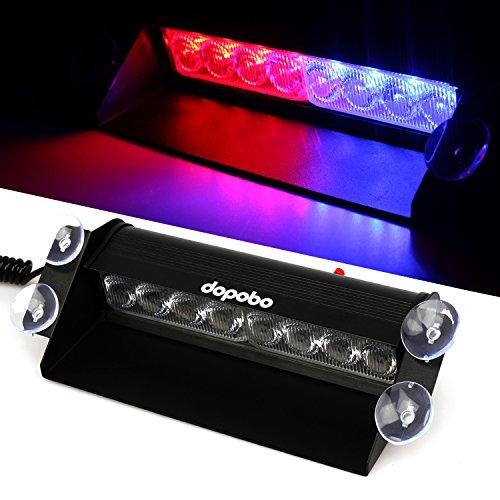 Dopobo - 8 Luces LED de emergencia para coches - Bomberos - Policía