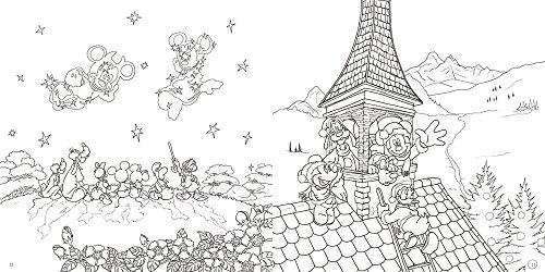 大人ディズニー夢の世界へ素敵な塗り絵レッスンブック