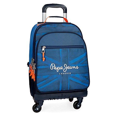 Pepe Jeans Fabio 6092861 Mochila Escolar, 44 cm, 30.49 litros, Azul