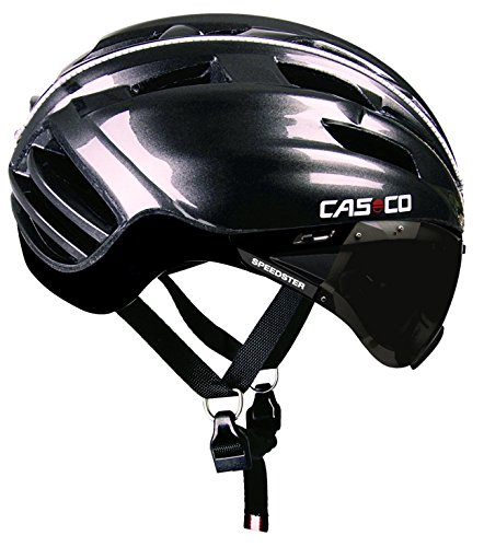 Casco Speedster TC Ciclismo con Pantalla incluida, Color Negro Antracita Brillo, Talla L (59-63 cm)