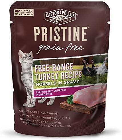 Castor Pollux Pristine Grain Free Free Range Turkey Recipe Morsels in Gravy Cat Food Pouches product image
