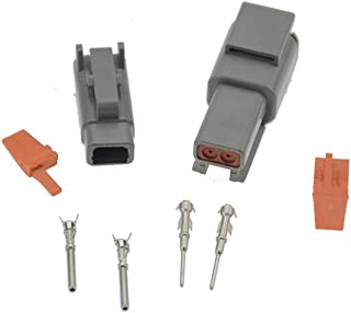 10 Sets Deutsch DTM 2Pin DTM06-2S DTM04-2P 20-24awg Auto Waterproof Electrical Connector Plug Enhanced Seal Shrink Boot Adapter