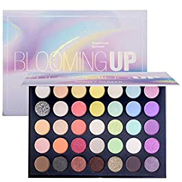 Beauty Glazed Eyeshadow Palette Shimmers And Matte Makeup Palette 35 Colors Make Up Palette Blooming Up Eye Shadow High Pigmented Glitters Blendable Waterproof Soft Powder