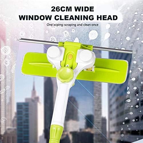 cineman Glasruitenreiniger, meerhoekige hooghuis-glasschraper douchecabine raamreinigingsborstel met handgreep borstelkop, drijvend design raamreinigingsgereedschap