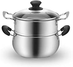 ZYSWP Thickened Stainless Steel Soup Pot Household Double Ear Stainless Steel Pot Small Steamer Cooking Pot Gas Induction ...
