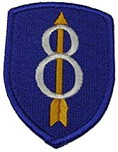 Embroidered Patch - Patches for Women Man - US Army Eighth 8TH Infantry Division INF DIV ID My Credentials Pathfinder