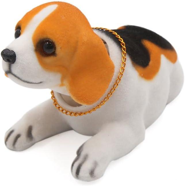 uxcell White Beagle Shaped Shaking f Head Weekly update 2021new shipping free Decoration Dog Nodding