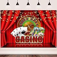 新しいカジノの背景FHZON 7x5ftカーテントランプディスクライト背景フォトテーマパーティーゲームパーティーバナーYouTube背景ドロップ小道具427