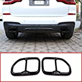 SLONGK Para BMW X3 G01 2018, Cubierta de Tubo de Escape de Cola de Coche de Acero Inoxidable, Accesorios de automóvil 2 Piezas