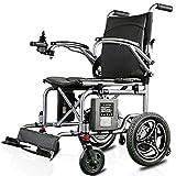 AOLI Silla de ruedas eléctrica accionada plegable ligero 16Kg, Asiento Ancho 40cm, Movilidad Silla, Sillas de ruedas motorizada, Capacidad de peso 100Kg