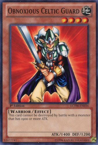 Yu-Gi-Oh! - Obnoxious Celtic Guard (LCYW-EN036) - Legendary Collection 3: Yugi's World - 1st Edition - Common
