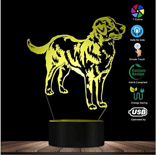 3D Illusie Nacht Licht Kerstmis 3D Zwitserse Berner Berg Ras Vorm Modern Ontwerp Aanpassen Naam Home Decor LED Illusie Nacht Licht Huisdier Puppy Slaperige Lamp Verjaardag Present