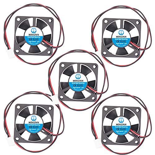 WINSINN Ventilador de 35 mm, 24 V, doble rodamiento de bolas, sin escobillas 3510, 35 x 10 mm, alta velocidad (paquete de 5 unidades)