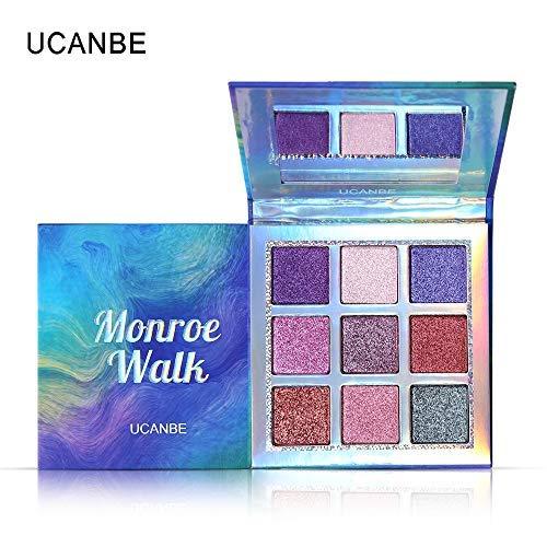 UCANBE La nouvelle palette de fards à paupières Nude 9 couleurs Matte Shimmer Glitter Multi-Reflective Shades Teint Ultra Pigmenté Maquillage Ombre à Paupières