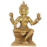 LILOVE Thai Four-Faced Buddha Statue Ornaments Big Brahma King Bronze Statue Home Decoration
