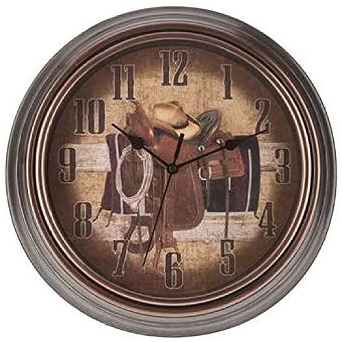 tuobaysj Reloj De Pared Vaquero Reloj De Pared Decoración De Pared Sala De Medios Sala De Teatro De Cueva De Hombre