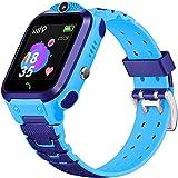 ZHENAO Tr5-1 2G Smart Watch Niños con Micro Sim Tarja Slot Toucking Screen Reloj de Pulsera Anti-Perdidas con Gps Smart Watch Kids Regalo, Fácil de Usar Moda/Azul