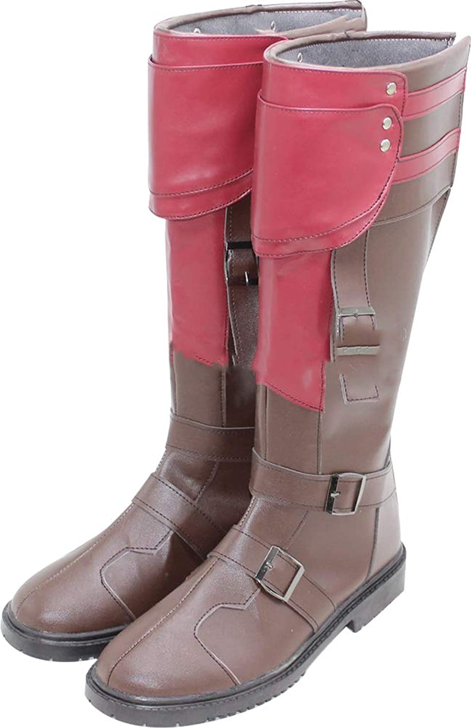 Whirl Cosplay Boots shoes for Final Fantasy 13 Lightning Brown