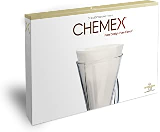 Chemex Bonded Filters, Unfolded, Half Moon, 100 Count