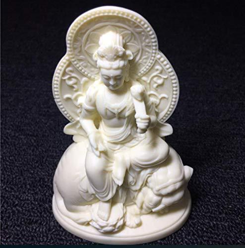 YXYSHX Escultura DecoraciónEscultura Ornamentshead Sculptureswhite Buddha Sculpture Buddha Statue Home Decoration Accessories Gift Buddha Statue Crafts
