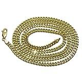 Preciosa cadena de oro amarillo de 18k para hombre modelo barbada plana semi-maciza de 3.5mm de ancha y 60cm de larga con cierre mosquetón de máxima seguridad. Peso; 10.45gr de oro de 18k