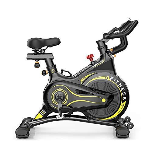 UNKB Spinning Bike casa Completamente circondata da Basse Intelligente del Rumore Cyclette Fitness Esercizio Attrezzature, Indoor Cycles Aerobica Formazione Fitness Cardio Bike (Color : Yellow)