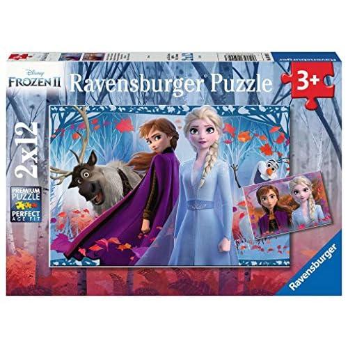 Ravensburger Frozen 2 Puzzle 2 x 12 Pezzi, Multicolore, 05009