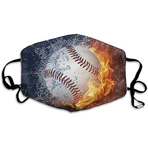 Fire Baseball FacialMask für Staub, im Freien, Sturm, Radfahren, 3D Print Facemask für Männer und Frauen