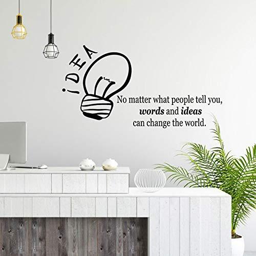 Office wall art sticker motivatie idee gloeilamp offerte sticker zakelijk succes werkconcept inspiratie krant muursticker 57x30cm