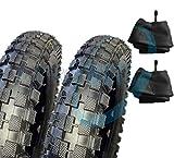 2neumáticos de goma con cubierta con tacos + 2 cámaras de aire, para minimoto y minimoto de cross 121/2x 2,75
