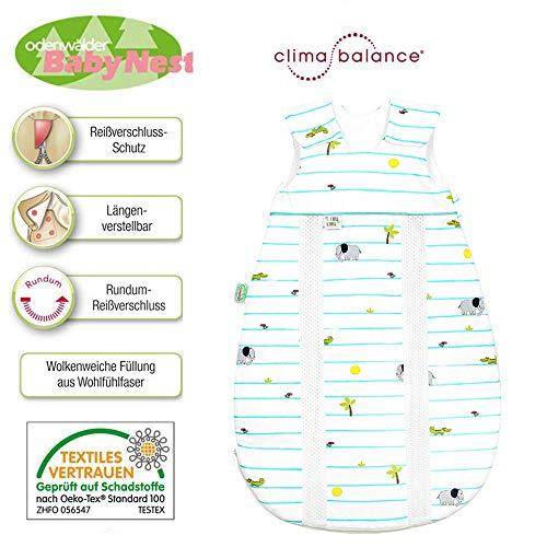 Odenwälder prima klima Jersey-Schlafsack 130 cm 3-6 Jahre, mit integrierten Klimazonen